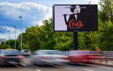 Most Mladosti - Led ekran - Zagreb